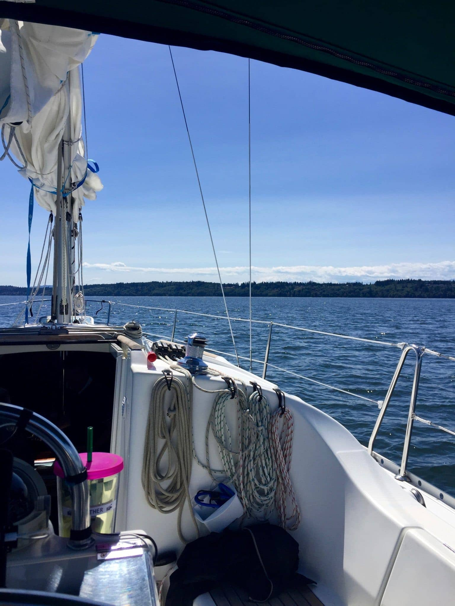 Motoring to Poulsbo after the rescue attempt