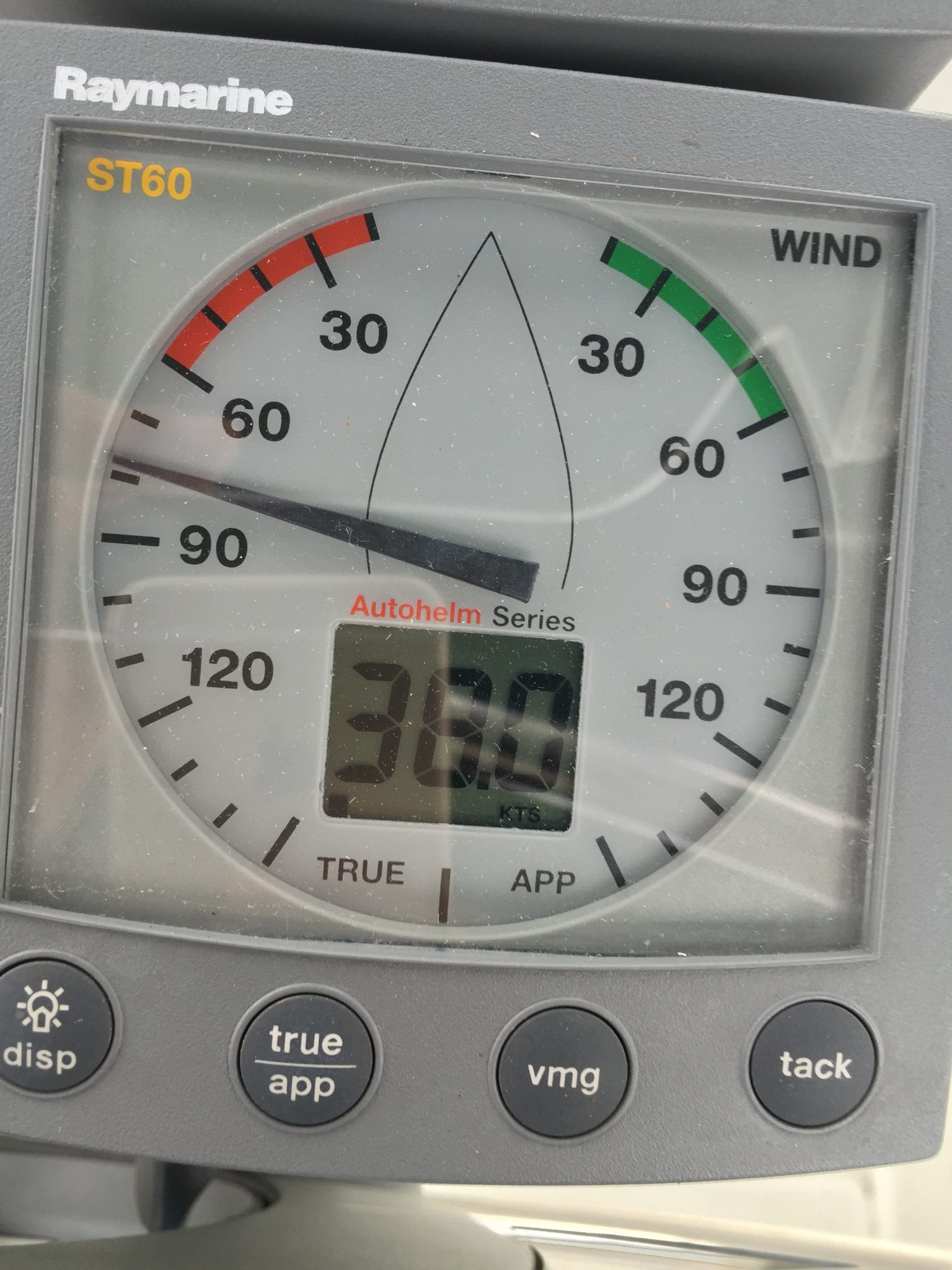 Sustained winds in the marina!