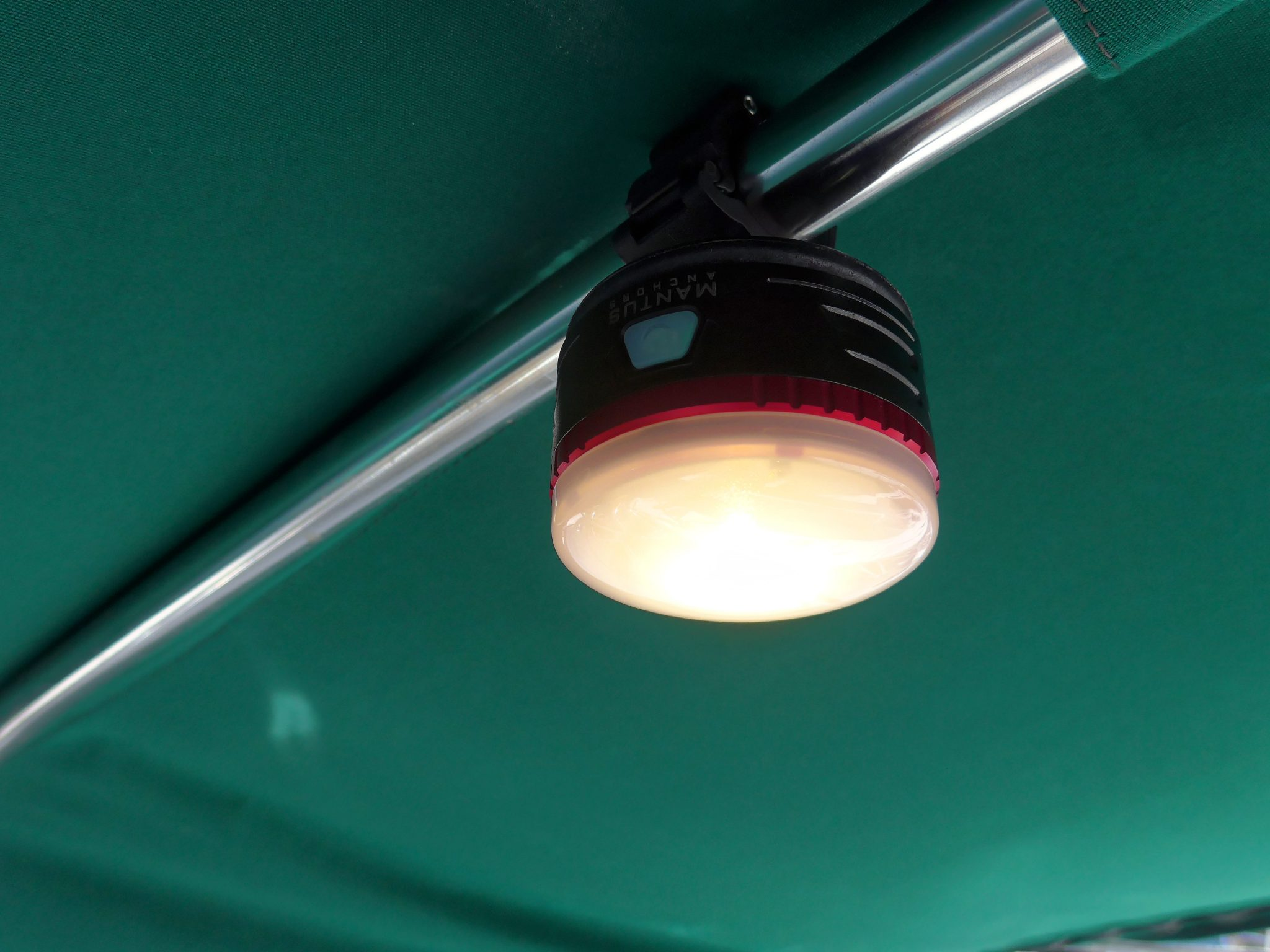 Mantus Snap-On Light Mounted Above Light On