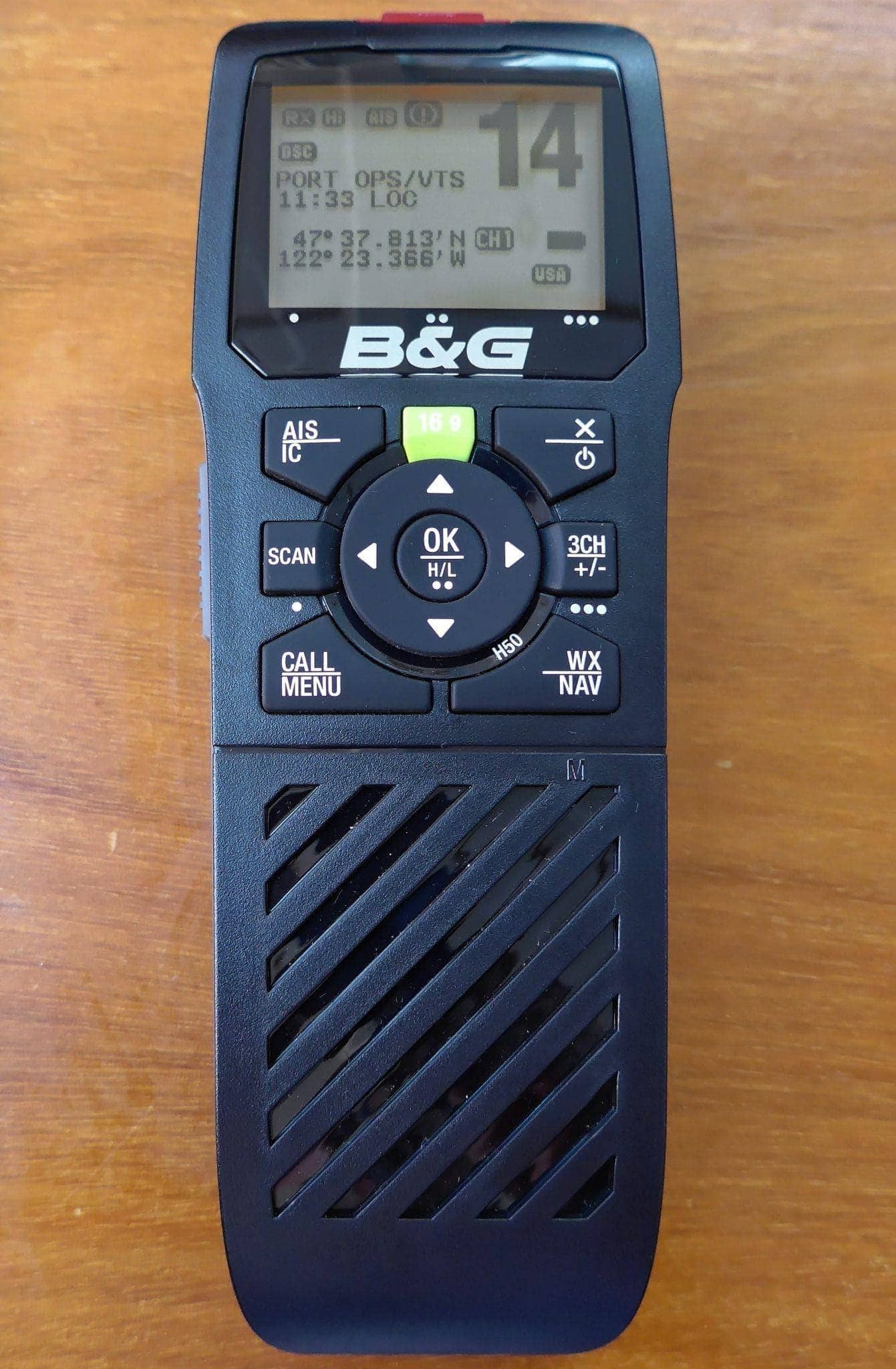 b&g h50 wireless vhf handset