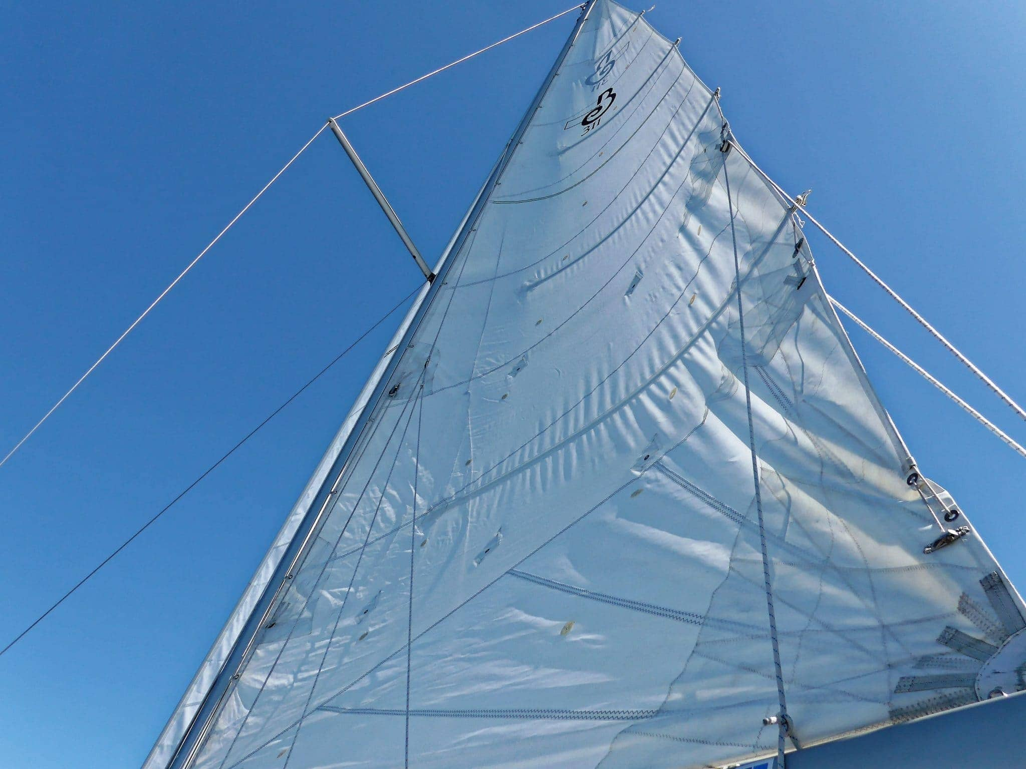 Mainsail with weird leech line issue