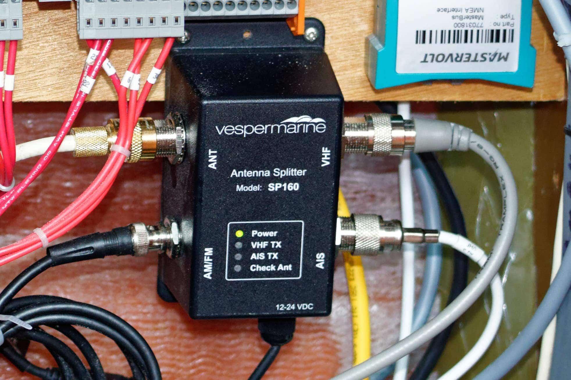 vesper marine sp160 antenna splitter