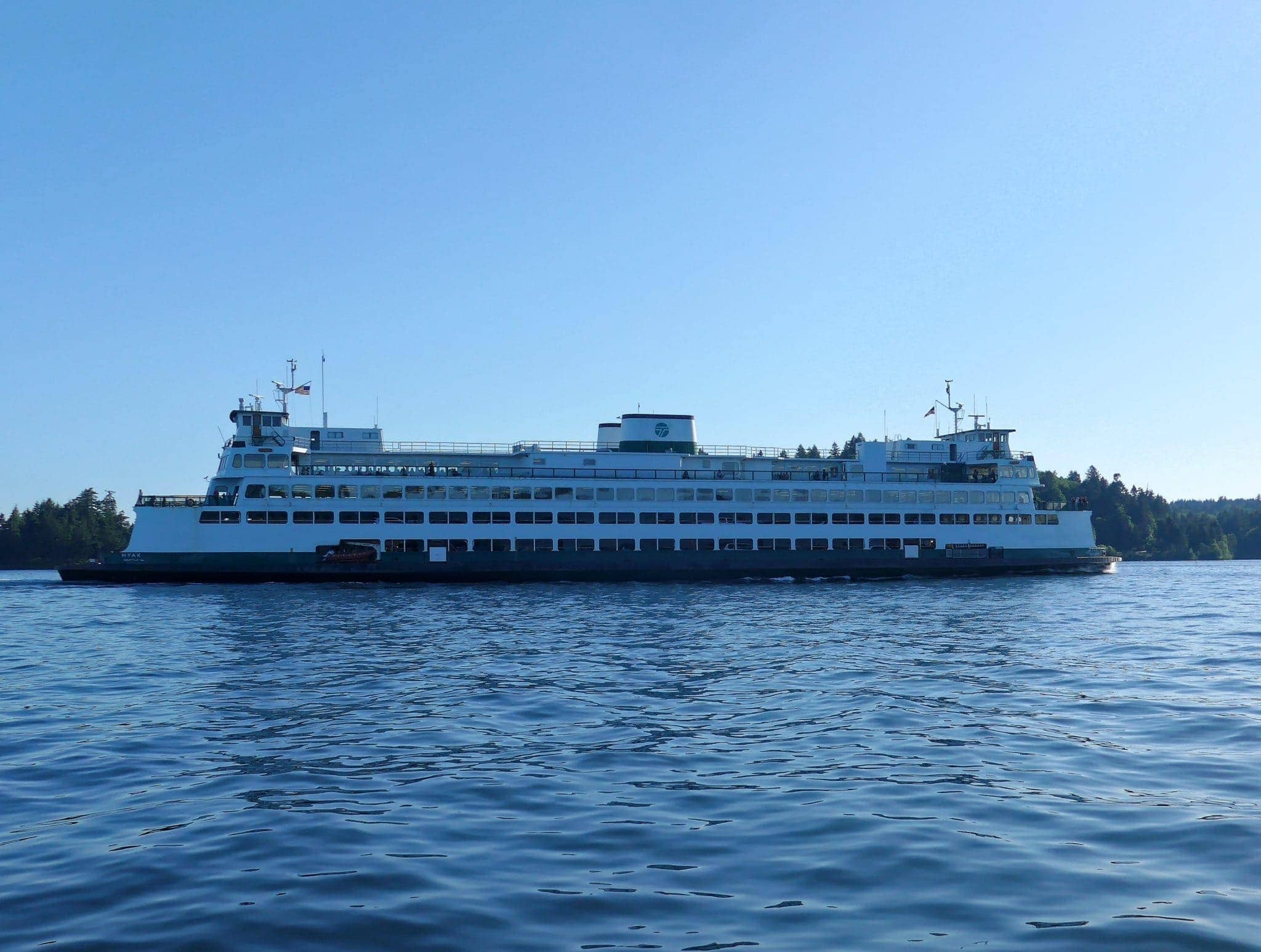 WSF Hyak at Orchard Point headed to Bremerton through Rich Passage
