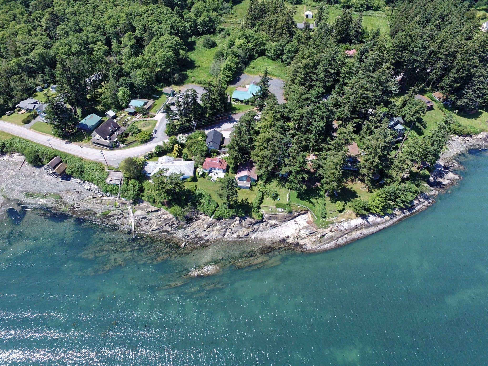 Beach house from the air