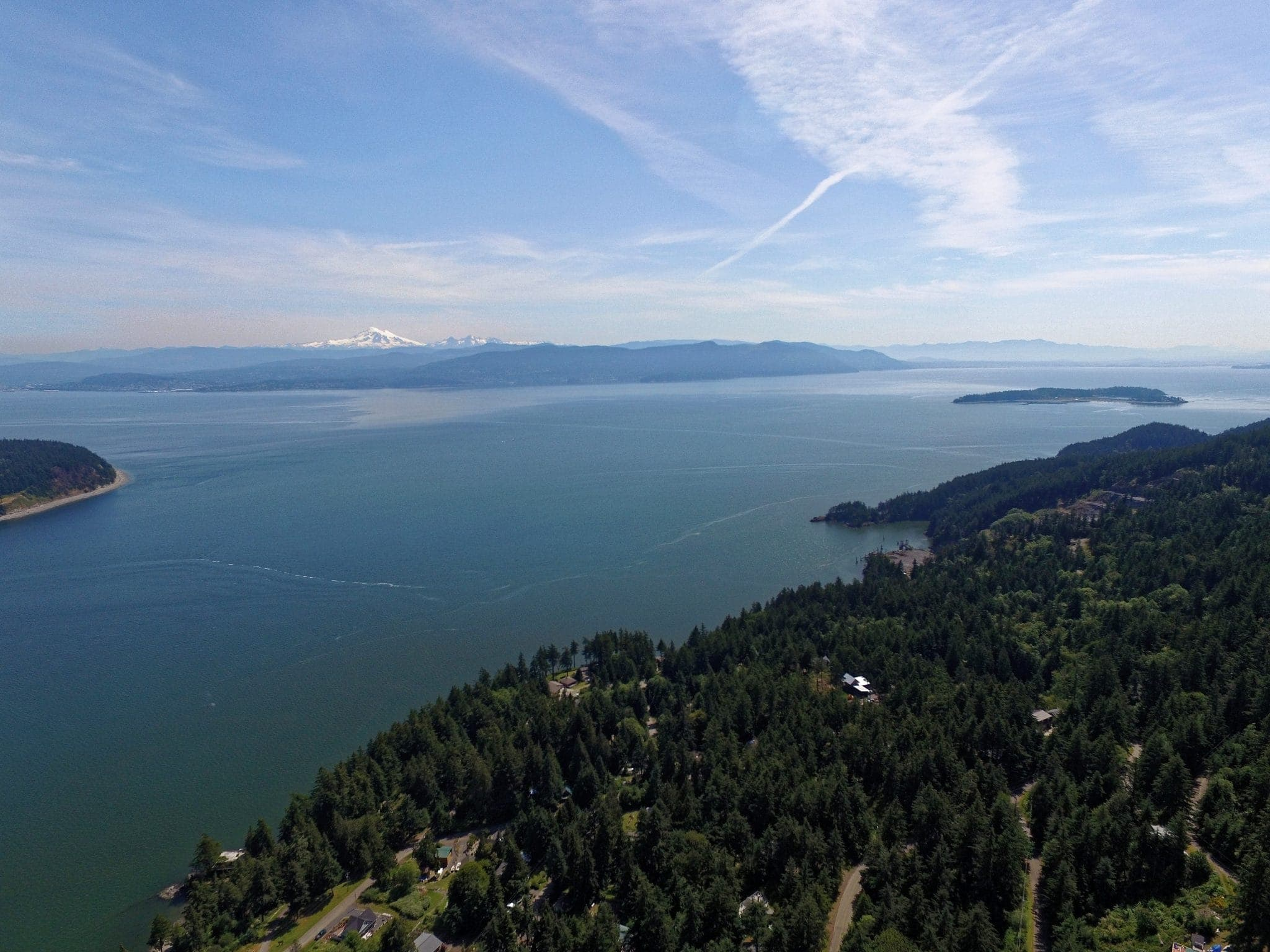 Lummi Island looking south along eastern coastline