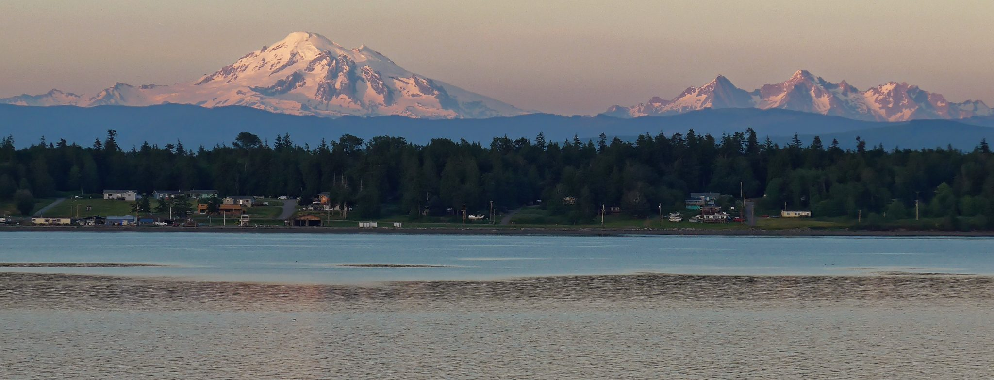 Mt. Baker and the Three Sisters from the beach house