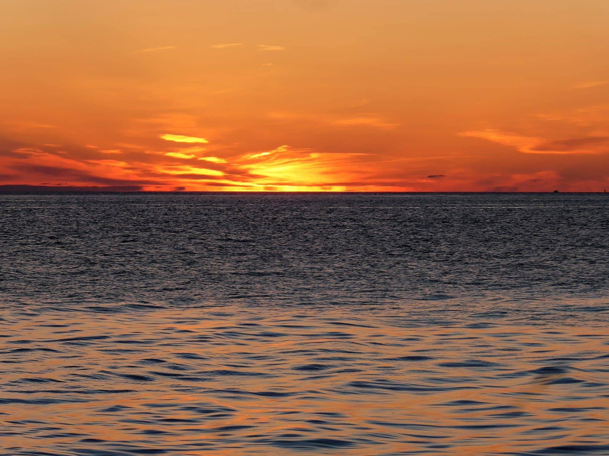 Amazing sunset from Lummi Island