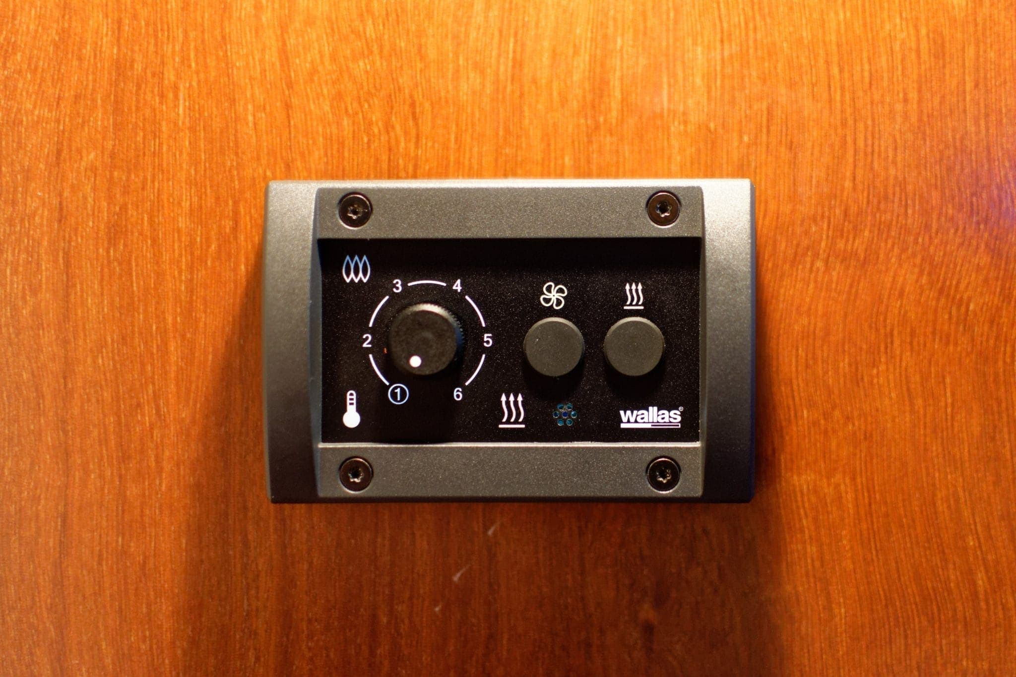 Control panel in stern stateroom