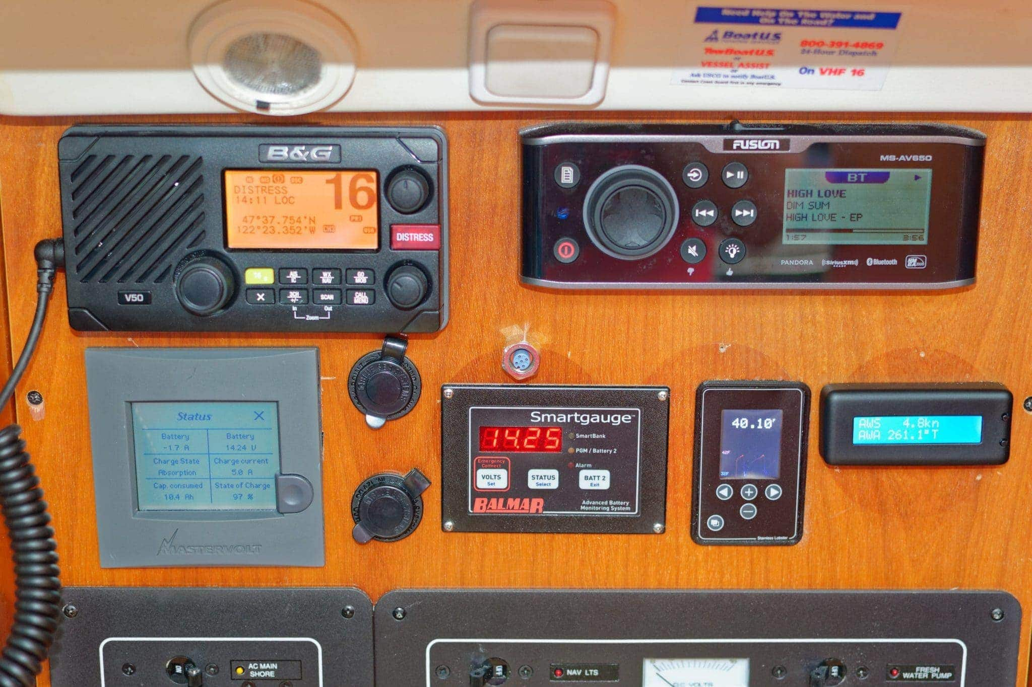 Yacht Devices Text Display Installed in Nav Panel