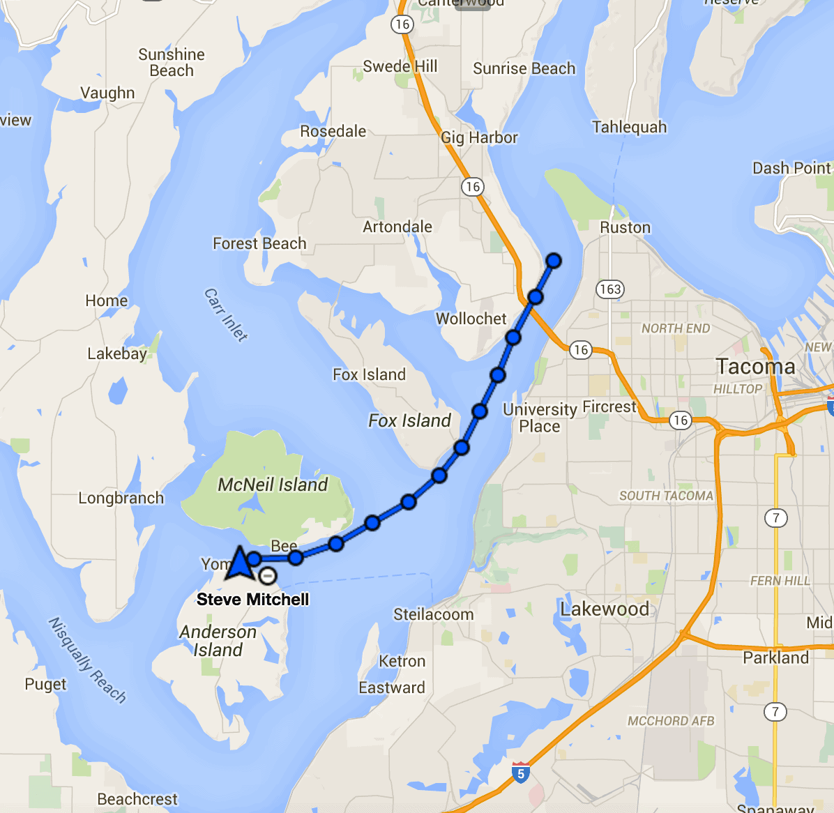 Tacoma to Eagle Island....sort of...