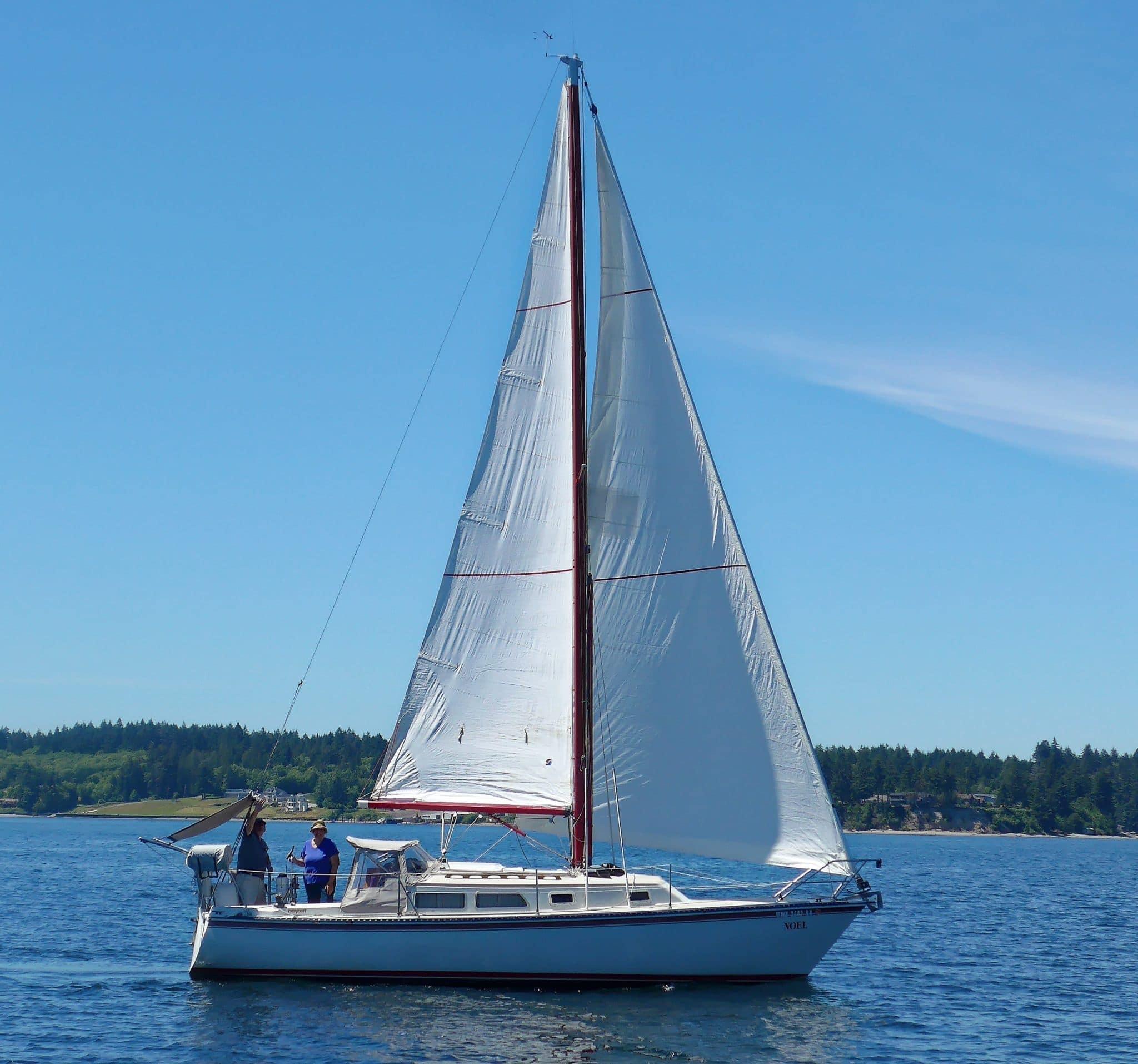 Noel under sail