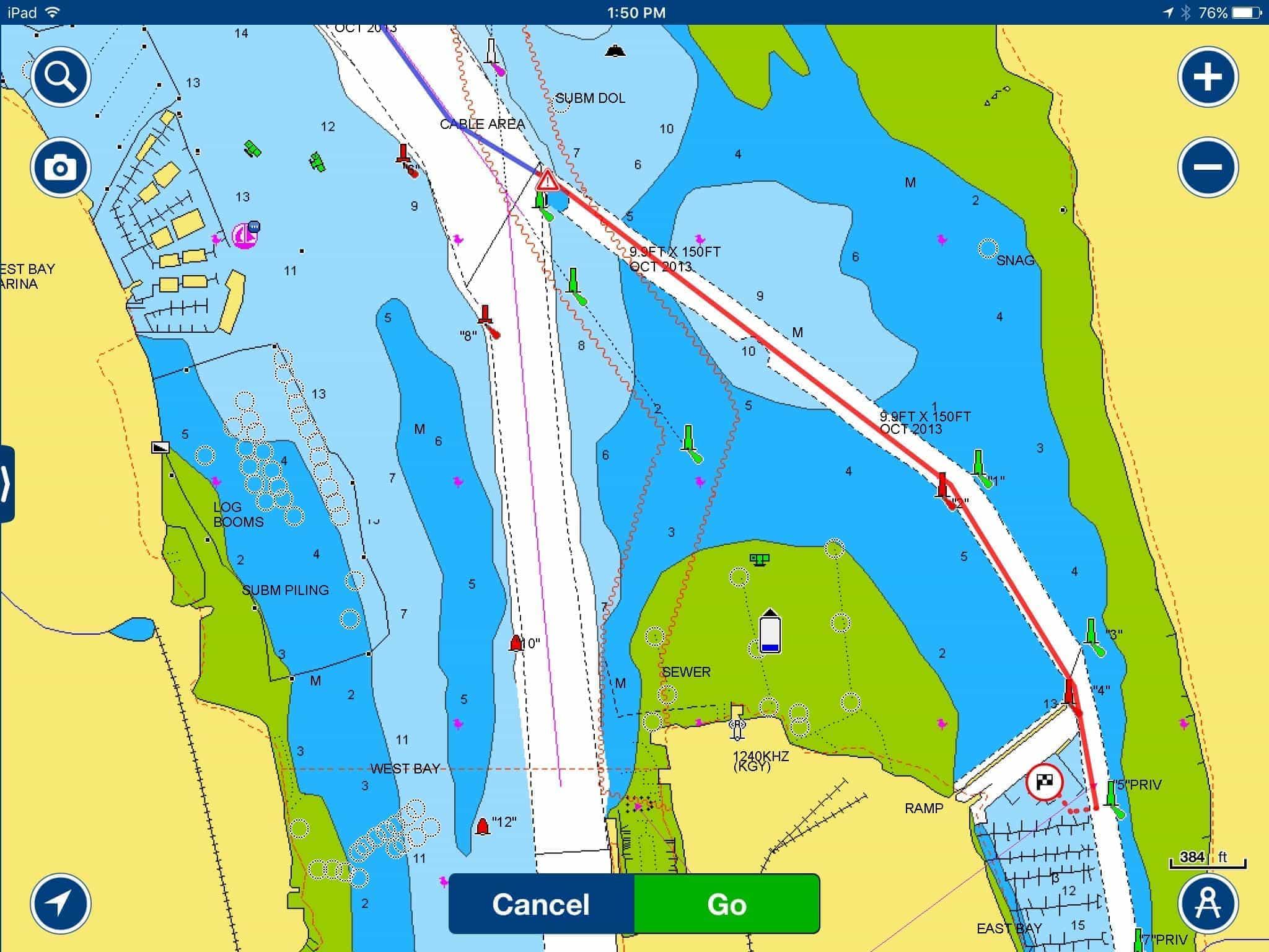 East bay channel marker