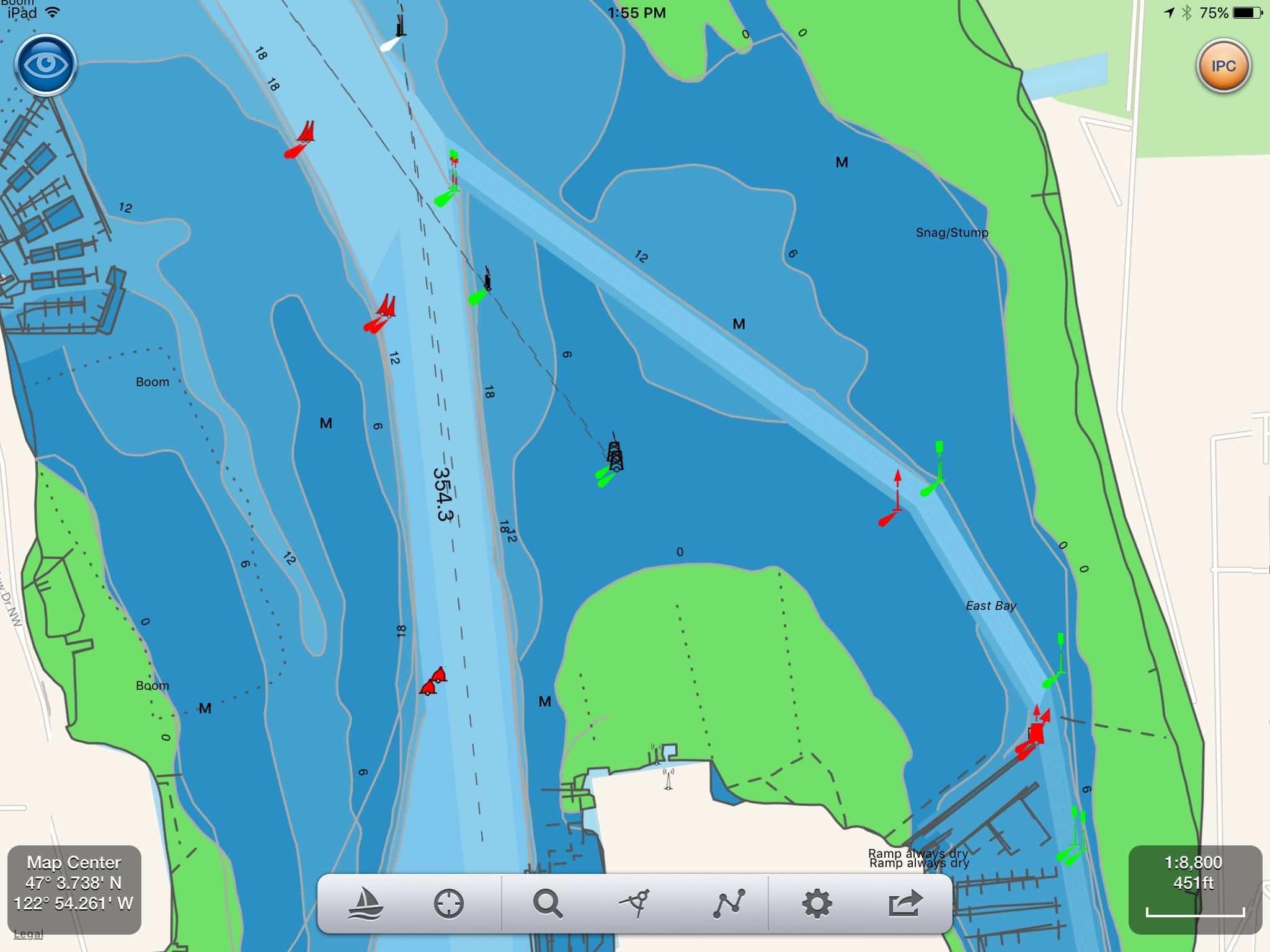 SeaNav US vector charts of same area