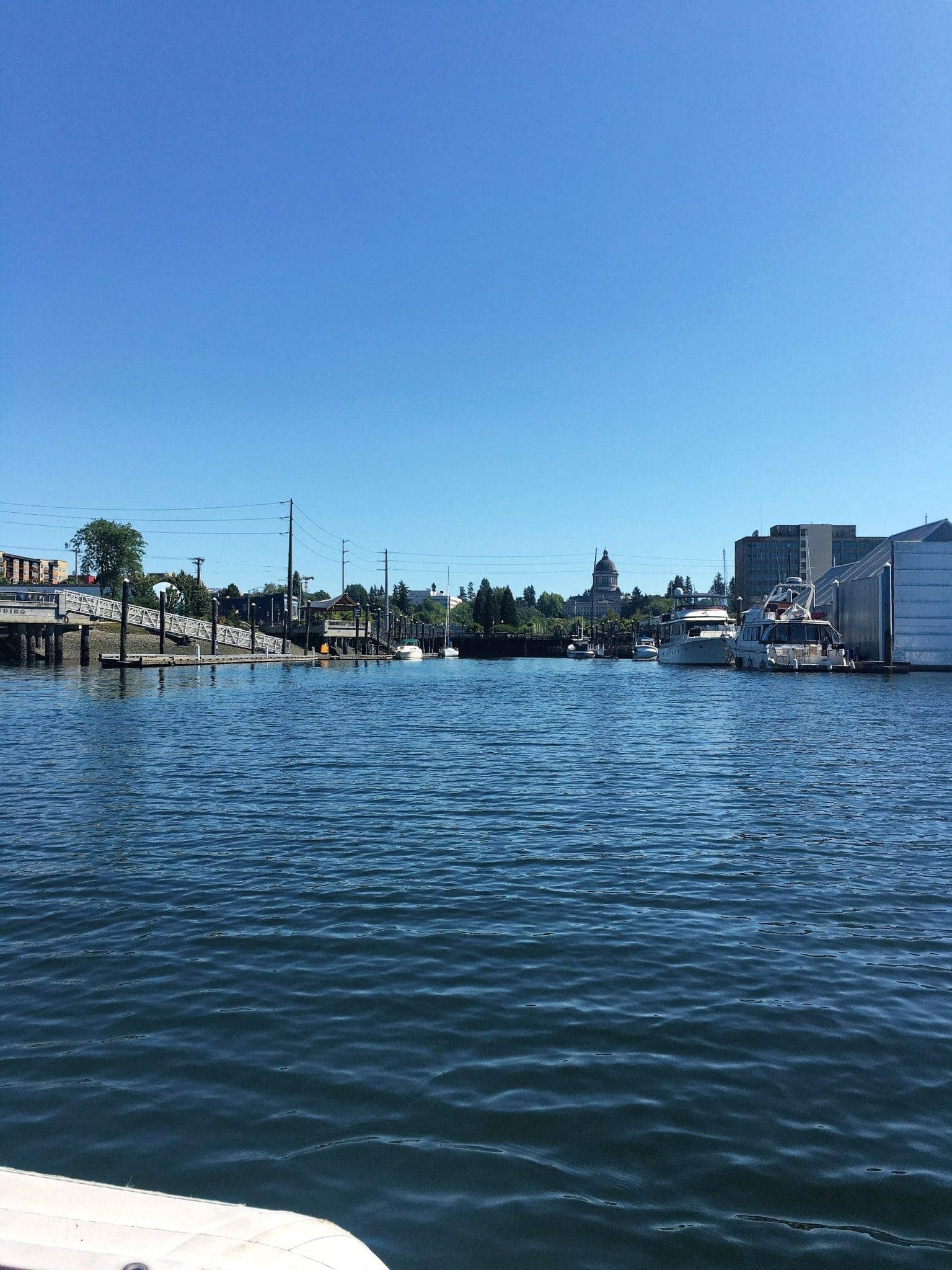 Dinghying in to Percival Landing