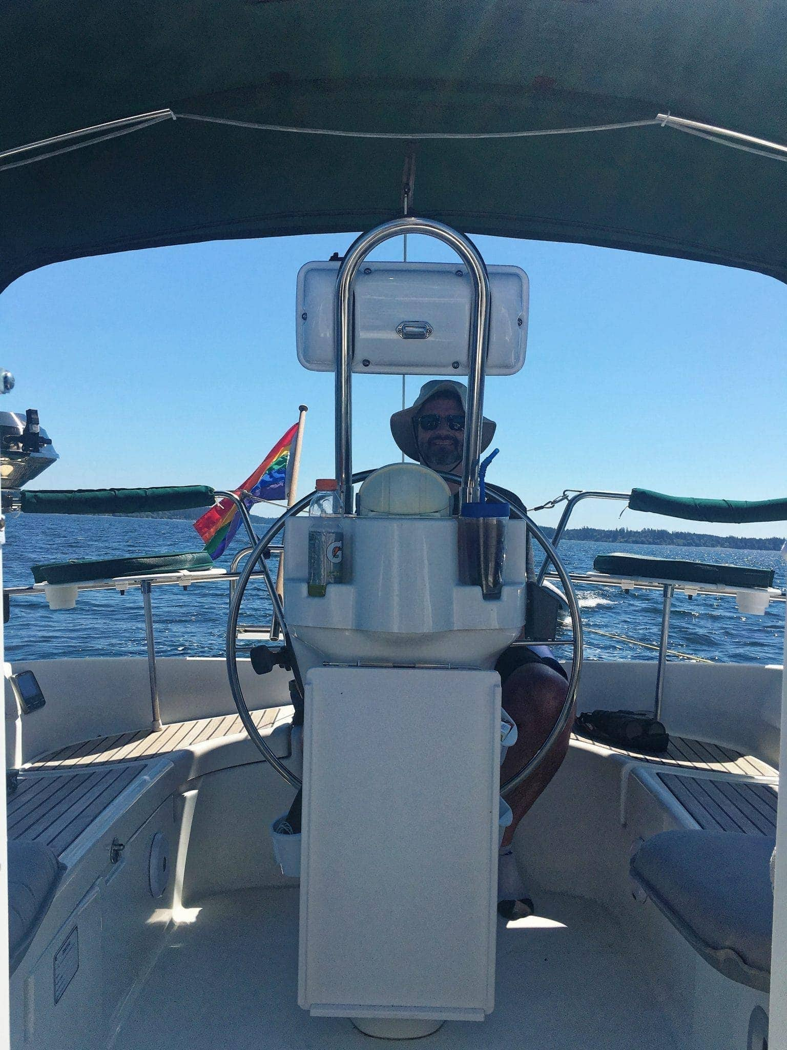Jake at the helm