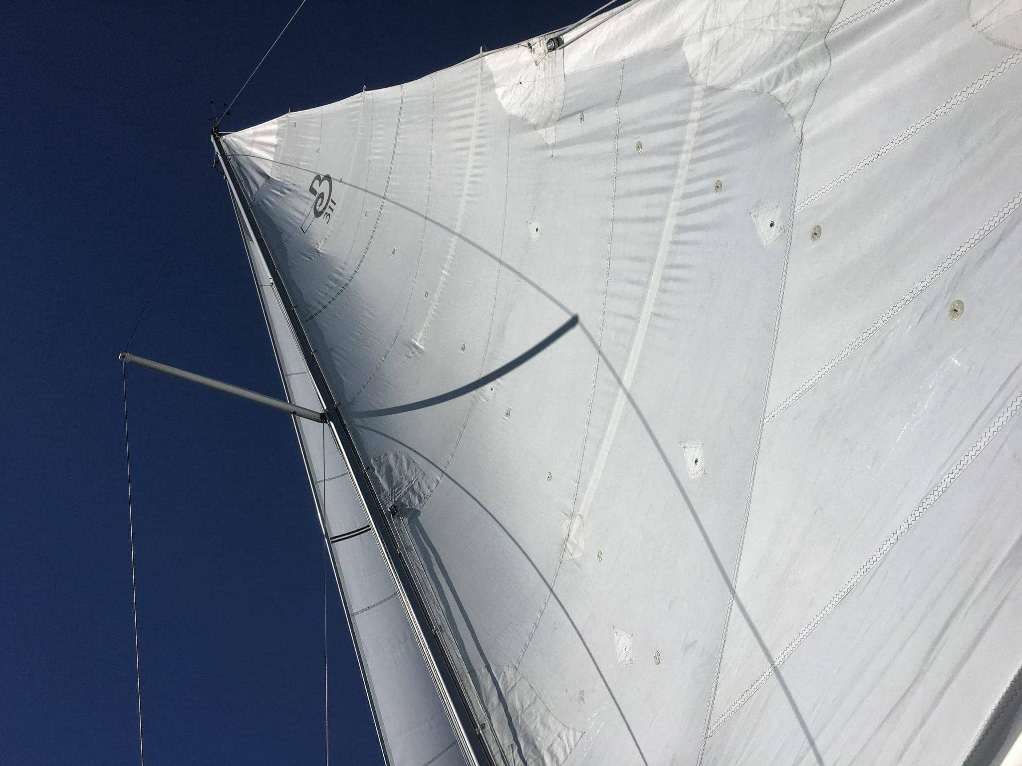 Grace's mainsail looking good