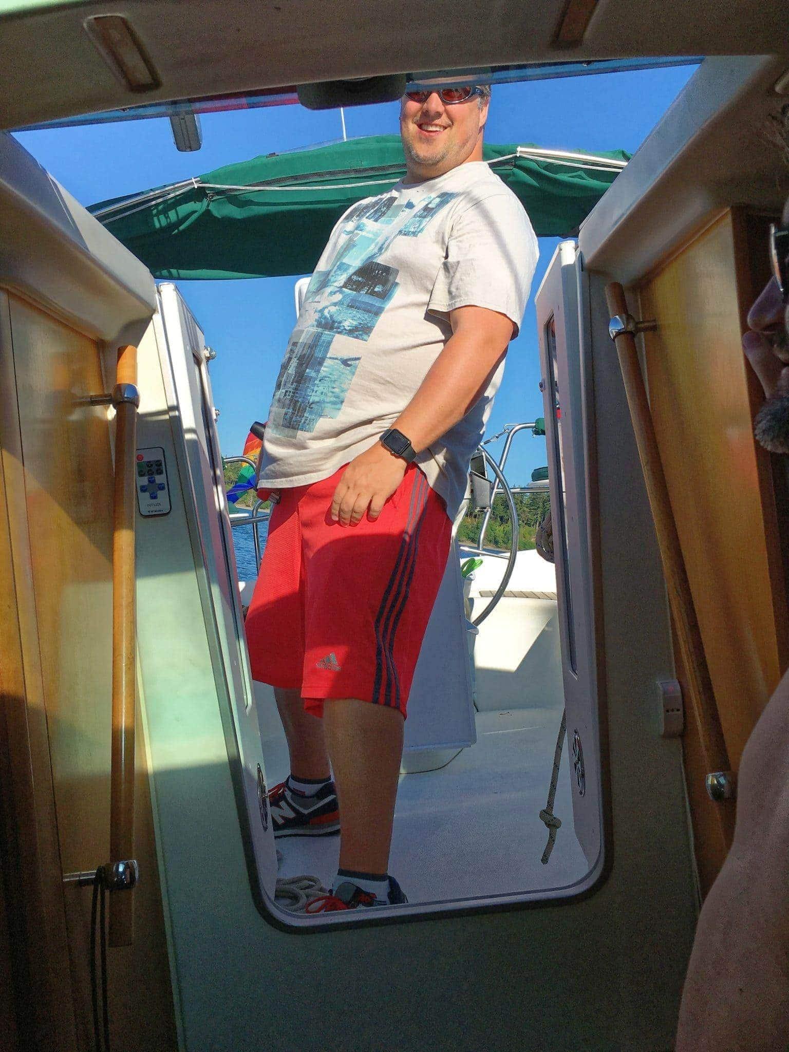 Sailing upwind to Jarrell Cove