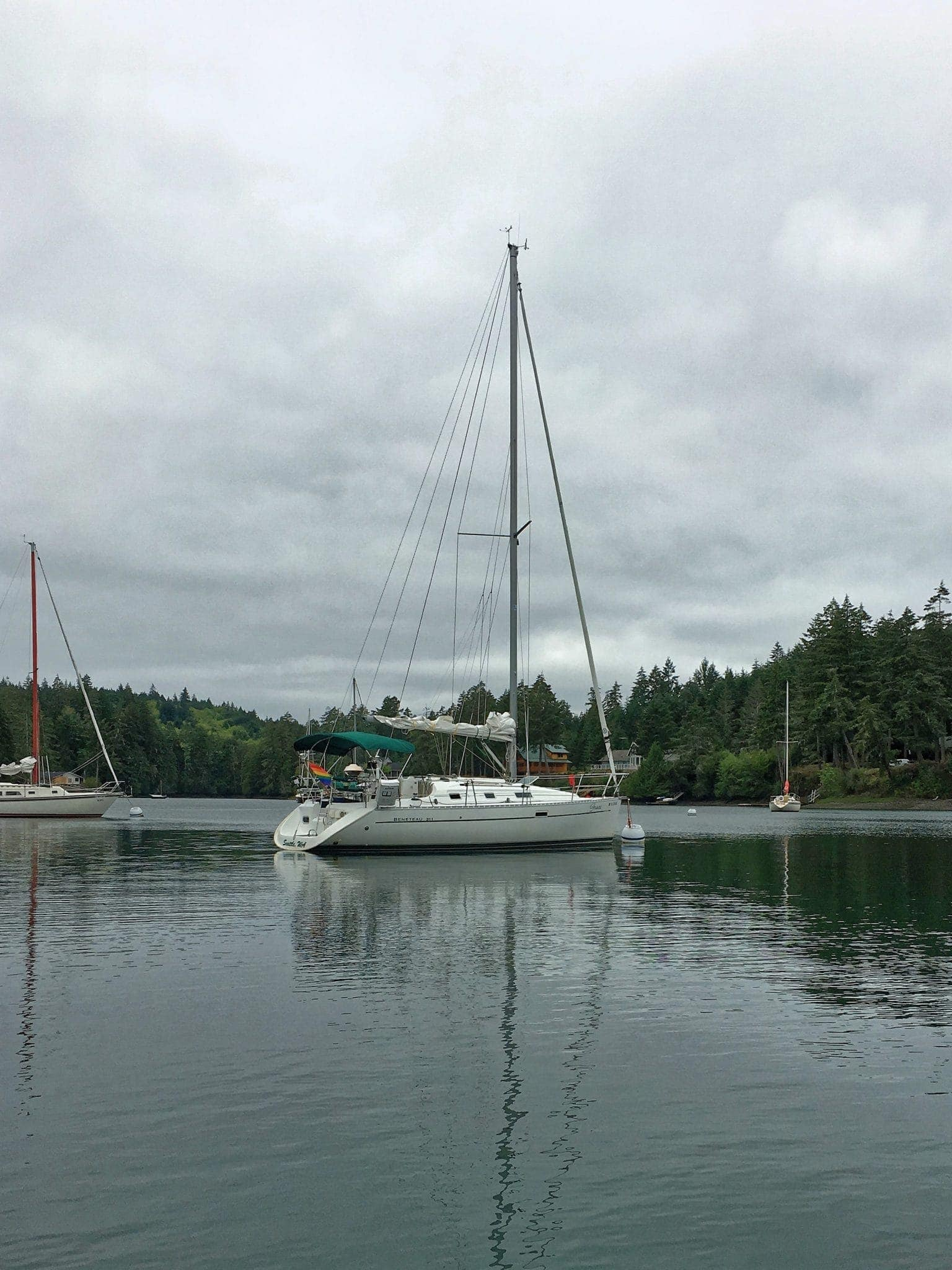 Grace on mooring at Jerrell Cove