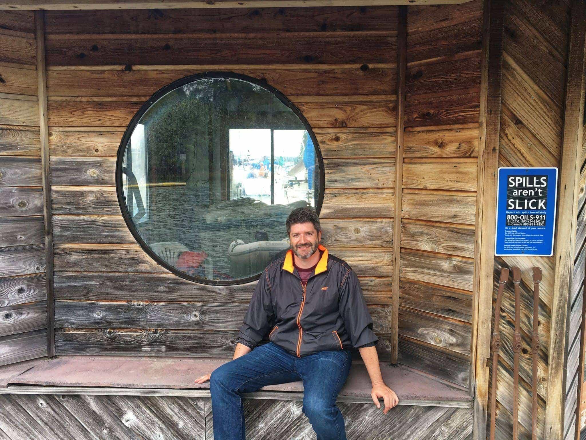 Jake at the Jarrell Cove Marina fuel dock