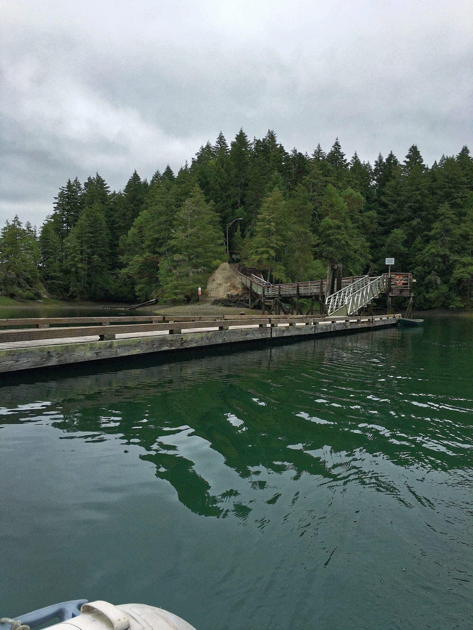 Jarrell Cove State Park inward dock