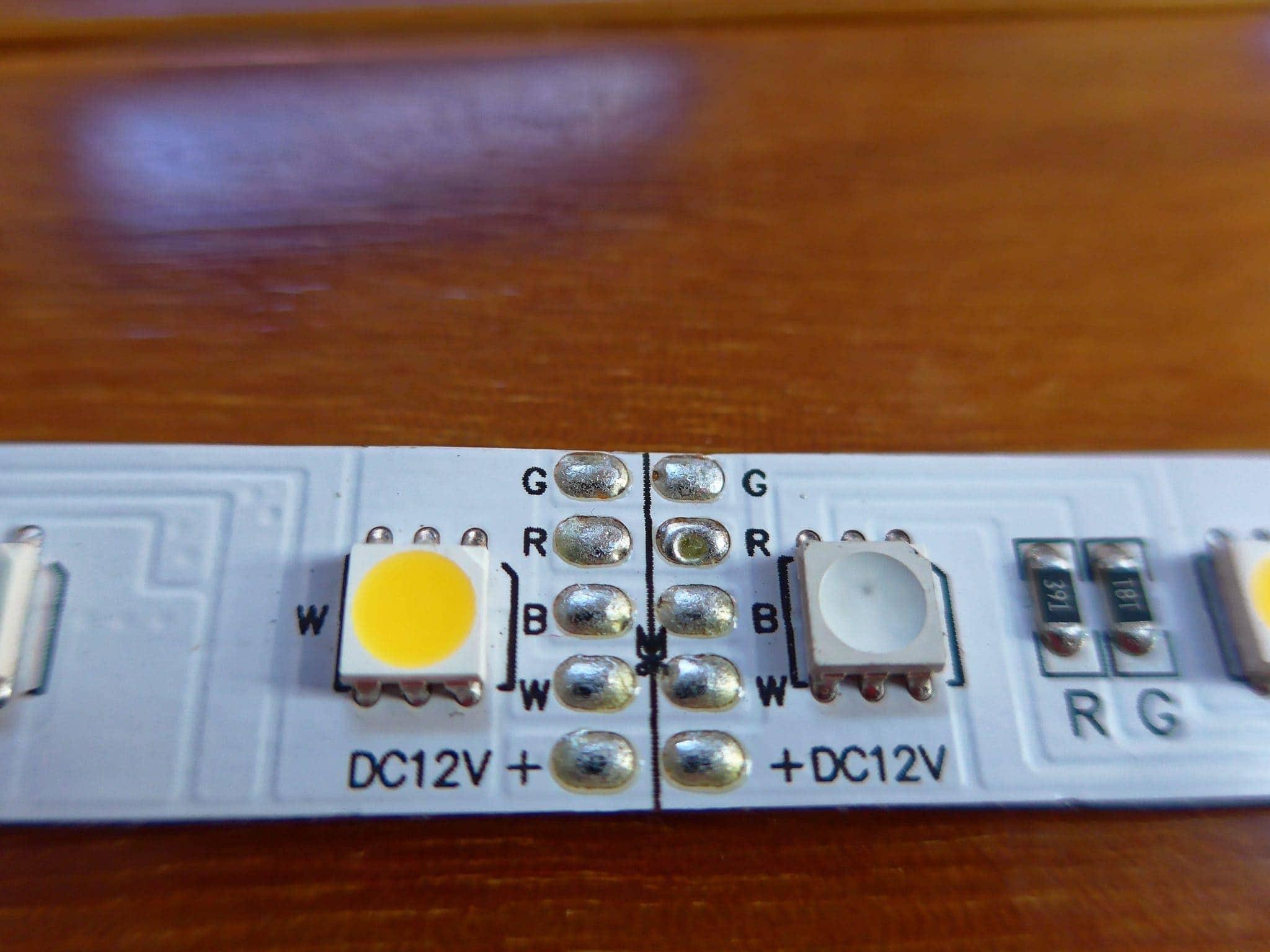 LED strip unboxed close up cut