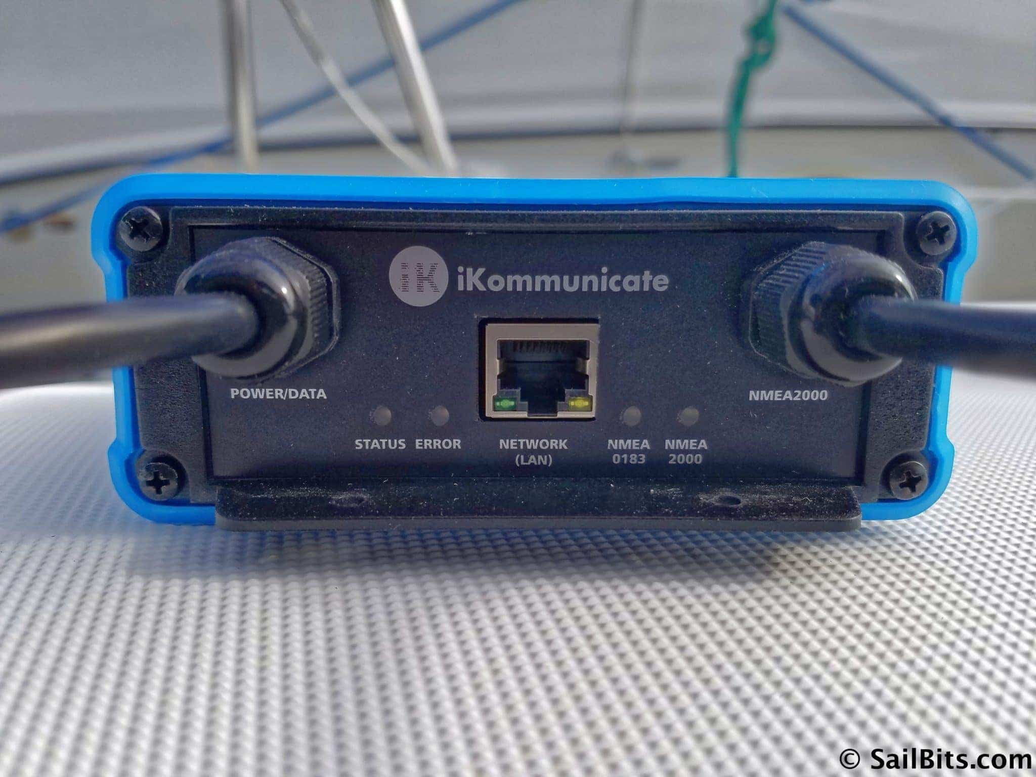 Ikommunicate Unboxing And Install Sailbits Raymarine Nmea 0183 Cable Wiring Diagram From Left To Right You Have The Power Status Lights Ethernet Port Finally 2000