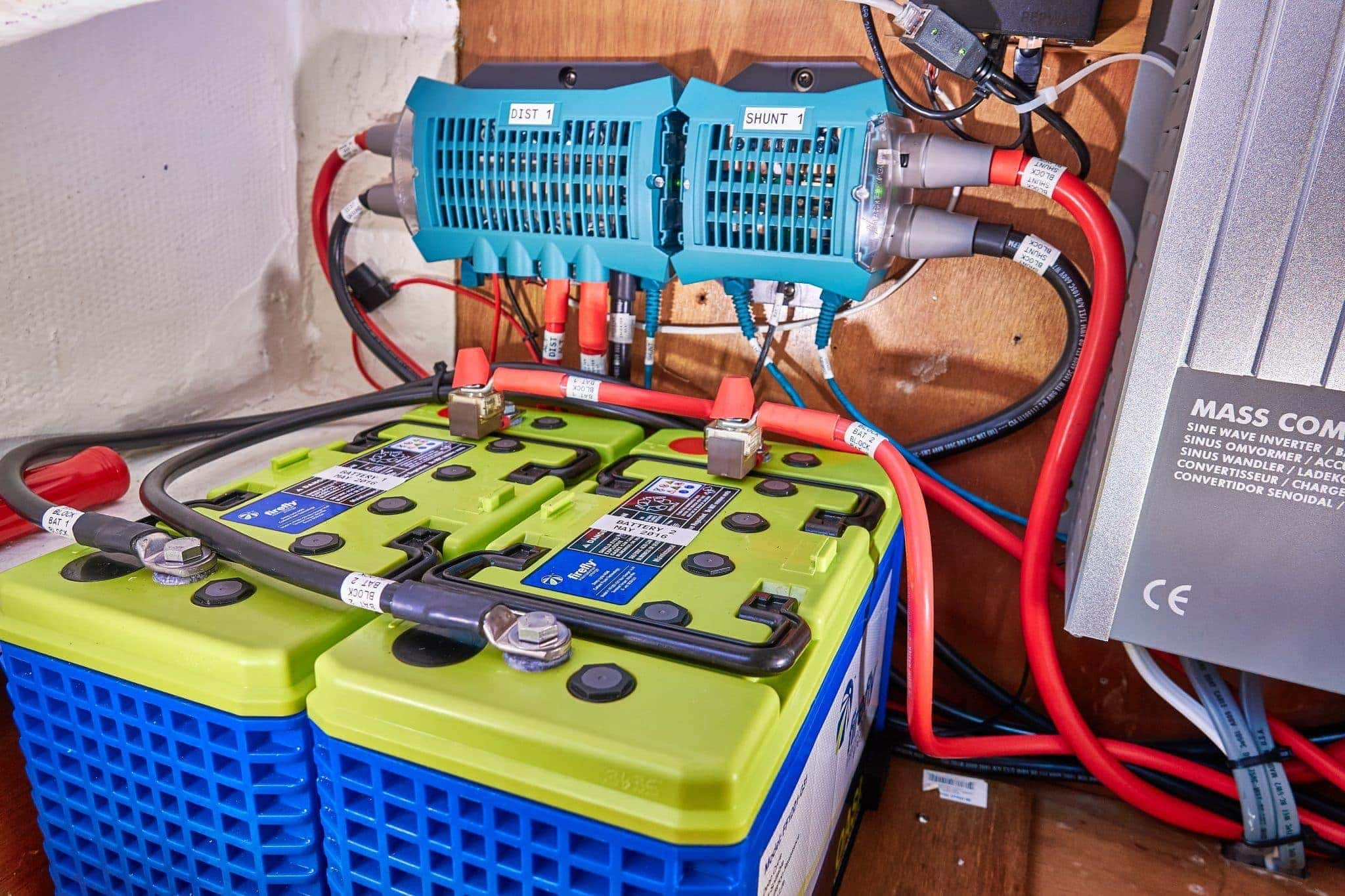 Power System Design Sailbits Battery Bank Wiring Diagram On Triple Charger