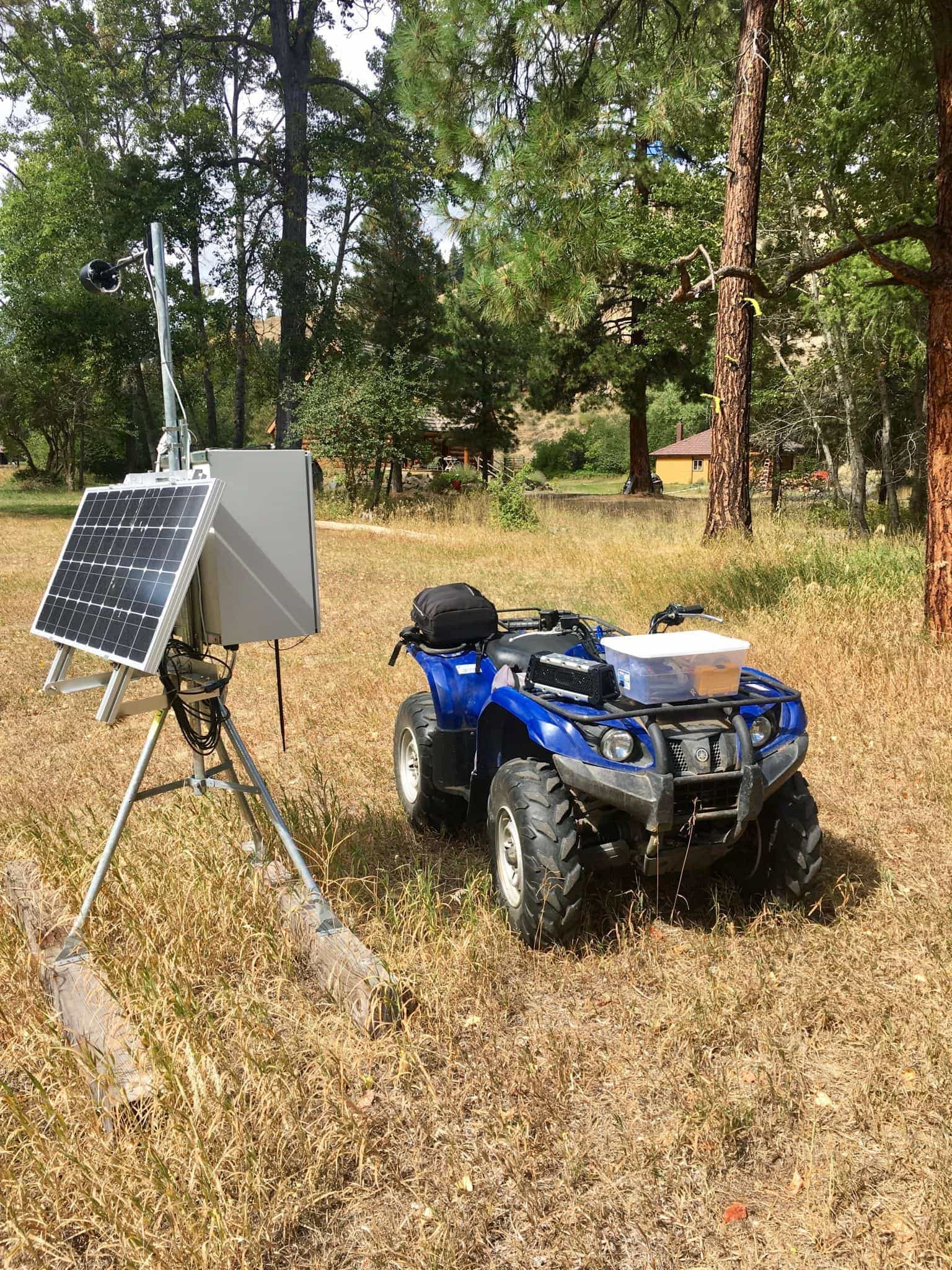 My work bench at the solar panel location