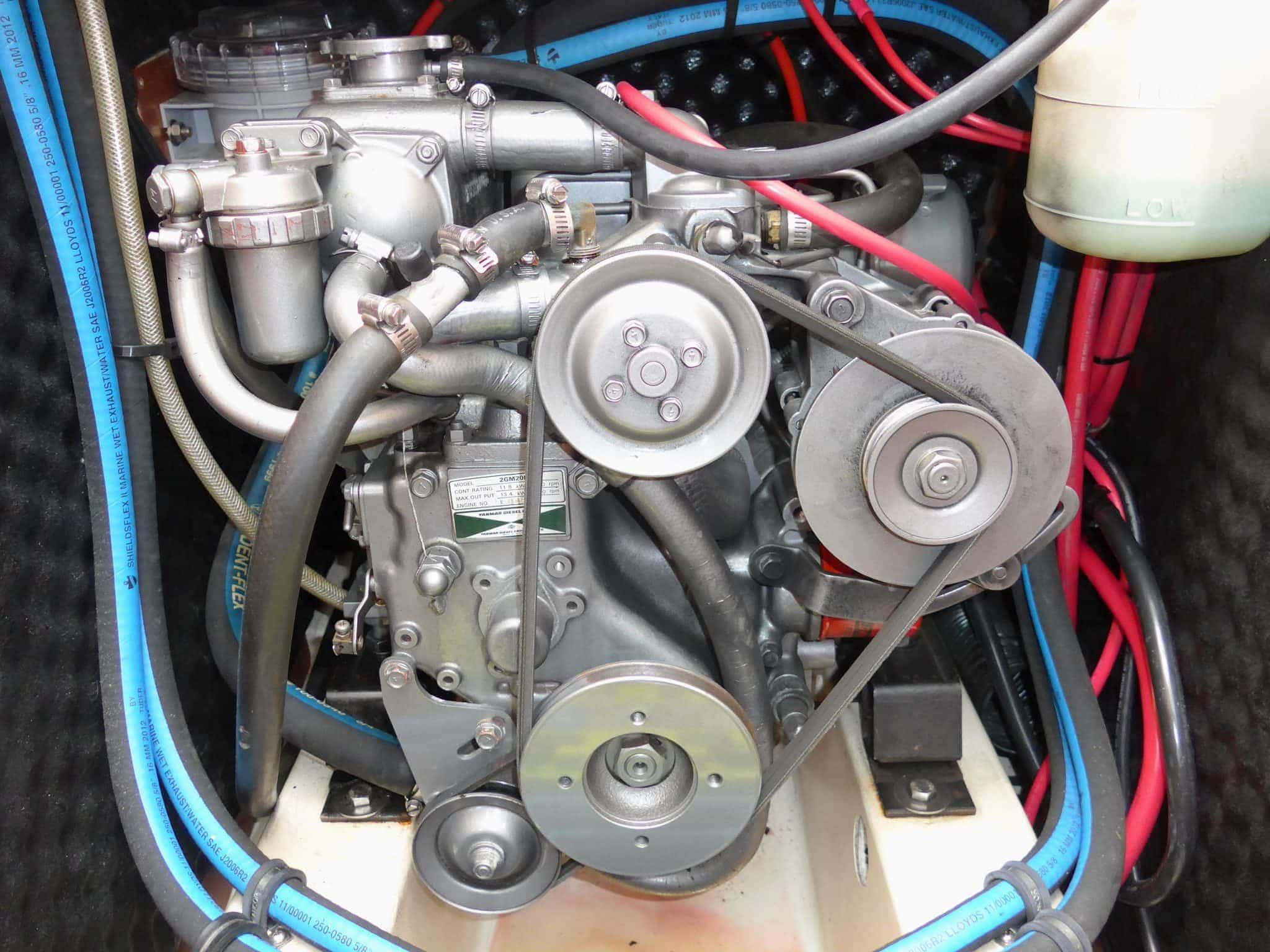 Old alternator on engine