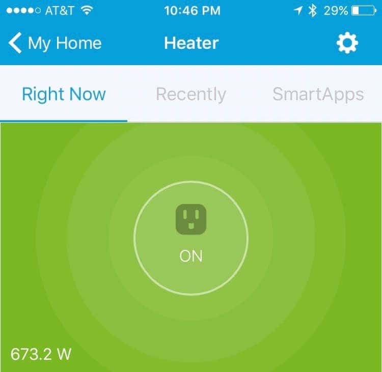 Real time status and wattage