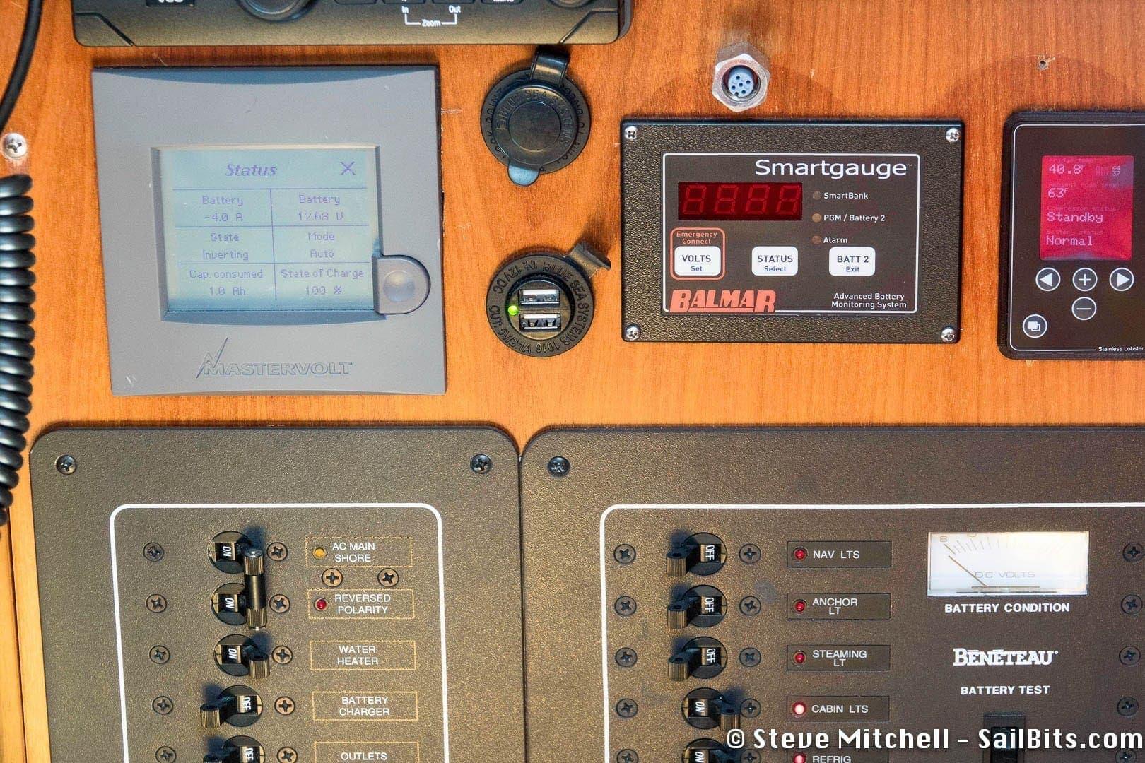 Blue Sea USB outlet at Nav station