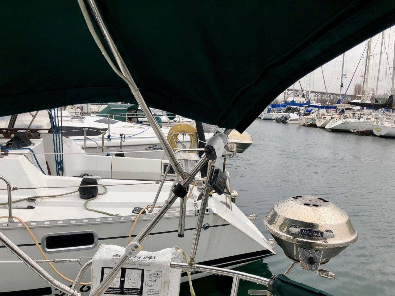 Arlo-on-sailboat-camera-cockpit-area