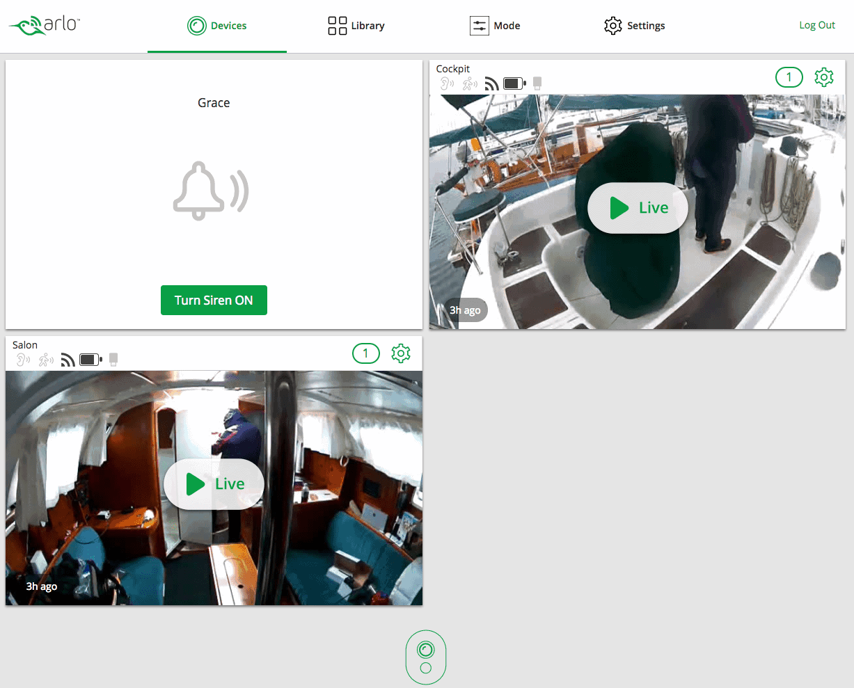 Arlo-on-sailboat-web-interface