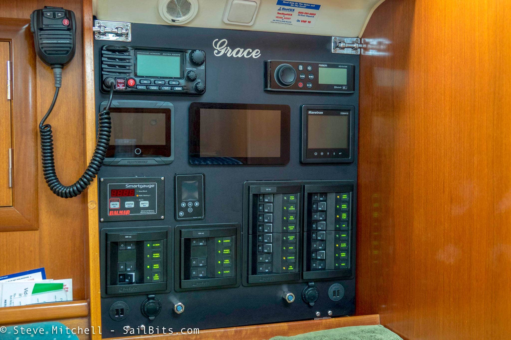 Completed Navigation Panel Sailbits Electrical