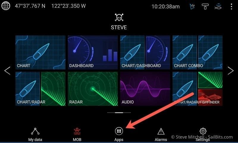 Raymarine Lighthouse v3 4 - apps, bluetooth, find nearest