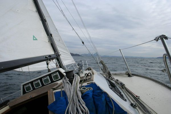 Sailing ... slightly cold but still nice