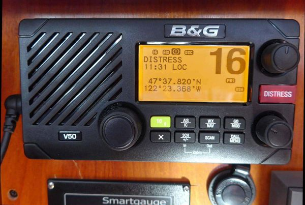 B&G V50 VHF radio and H50 wireless handset