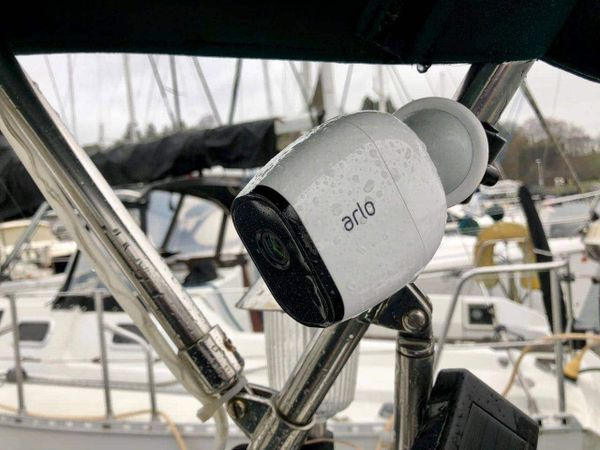 Easy security cameras for the sailboat via Arlo